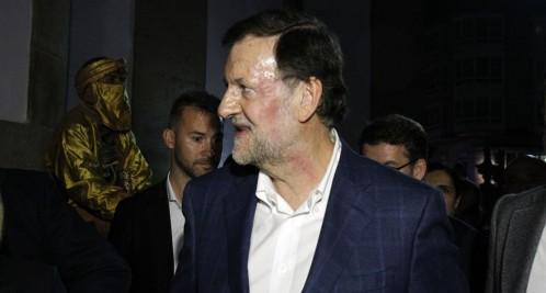 Mariano Rajoy tras la agresión. Fuente: La Razón.
